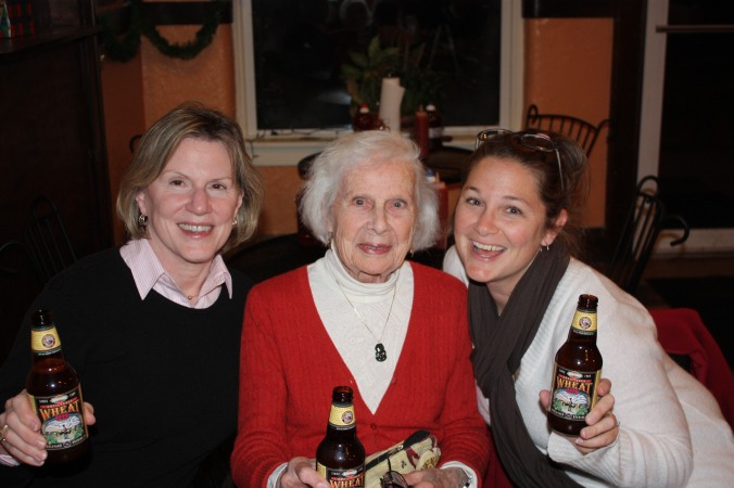 Mommy, Gran and me in Atchison, Kansas, November, 2009.