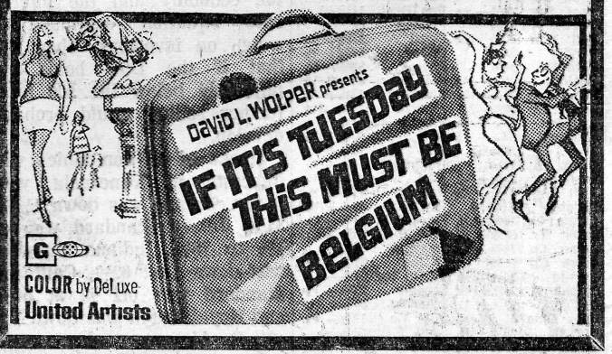 Movie Advertisement - If Its Tuesday This Must Be Belgium 1971 - Studdblog